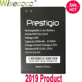 WISECOCO baterii dla Prestigio Muze PSP7511 PSP3512 DUO telefon najnowsza produkcja wysokiej jakości bateria z tropić liczbę