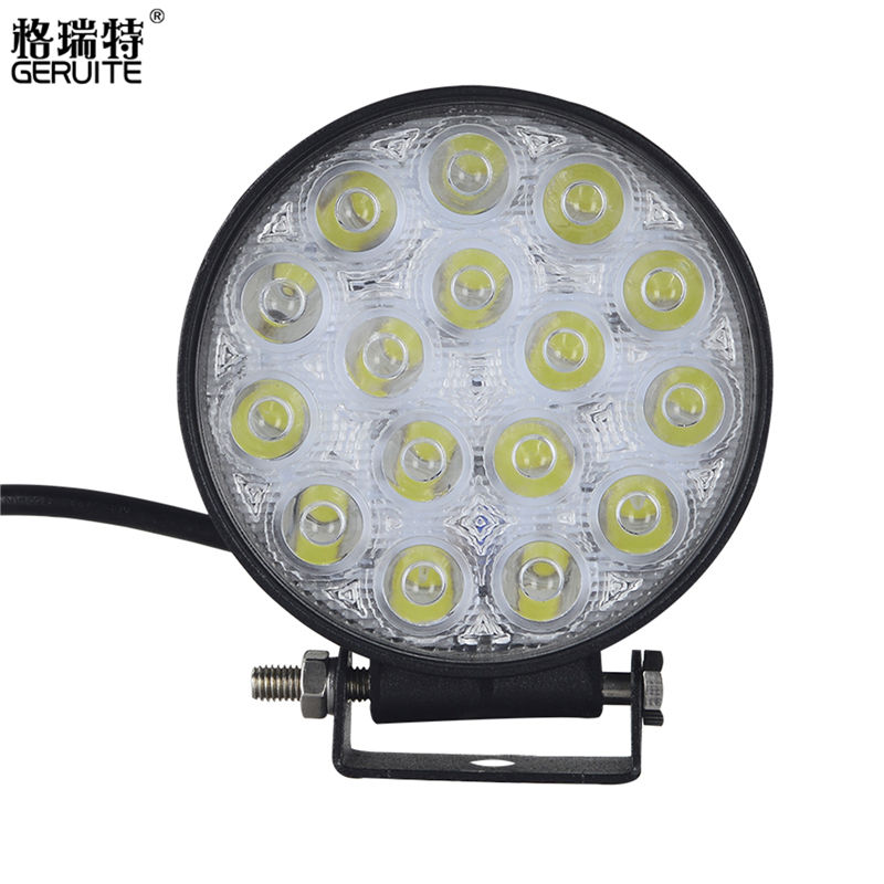 4PCS 48W LED Work Light for Indicators Motorcycle Driving Offroad Boat Car Tractor Truck 4x4 SUV ATV Flood 12V 24V 8 inch 40w cree led light bar for off road indicators work driving offroad boat car truck 4x4 suv atv fog spot flood 12v 24v