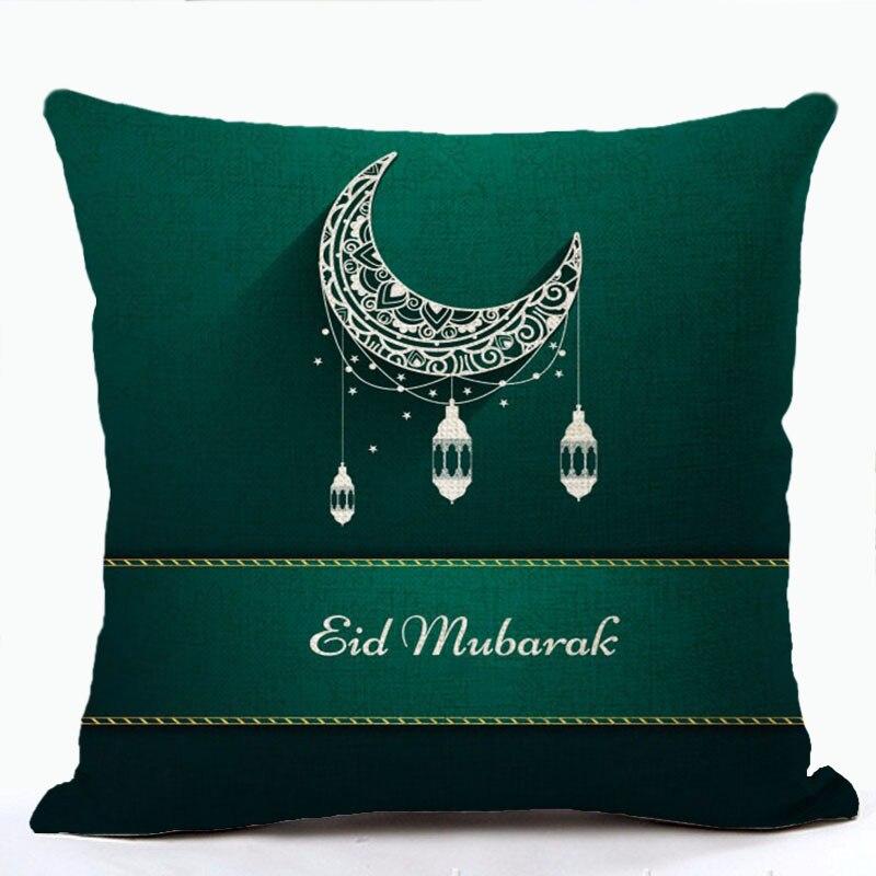 Ramadan prevleka za blazine Eid Mubarak Cvetlična blazina Moon - Domači tekstil