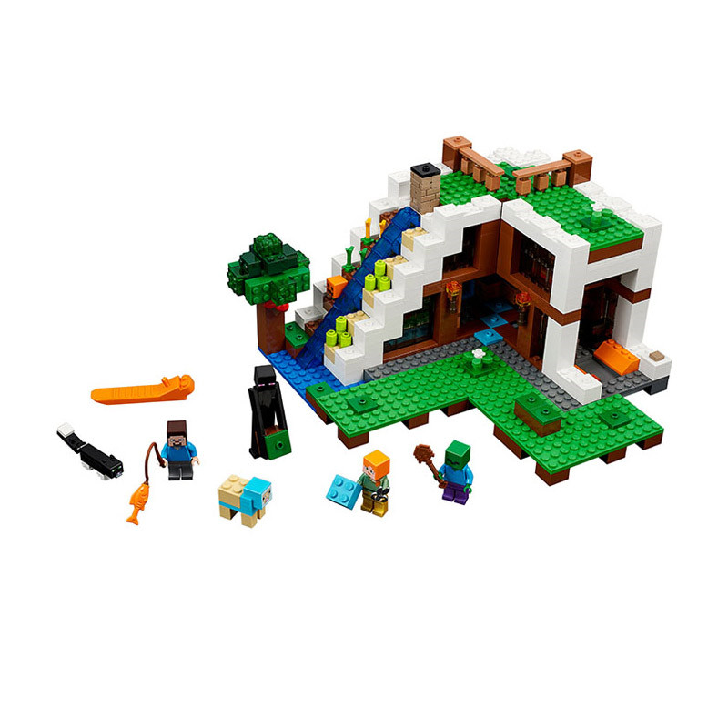 Lepin Pogo Bela 747pcs+ Minecraft My World Building Blocks Bricks Compatible legoe Educational Hobbies For Children Toys