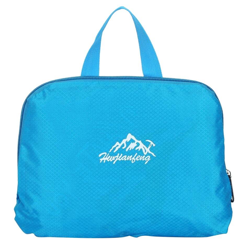 HU WAI JIAN FENG 35L Waterproof Light Weight Folded Backpack Fashion Lover Package, Blue hu