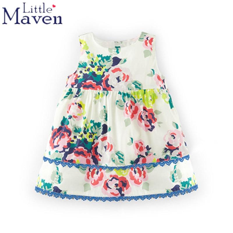 b8ad28111 100% Little maven children brand 2018 Summer New baby girls Pure ...