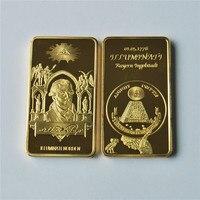1oz Gold Bullion Bar ILLUMNATENORDEN commemorative gold bars, Square gold plated Coin, 50/100pcs/lot, DHL Free shipping
