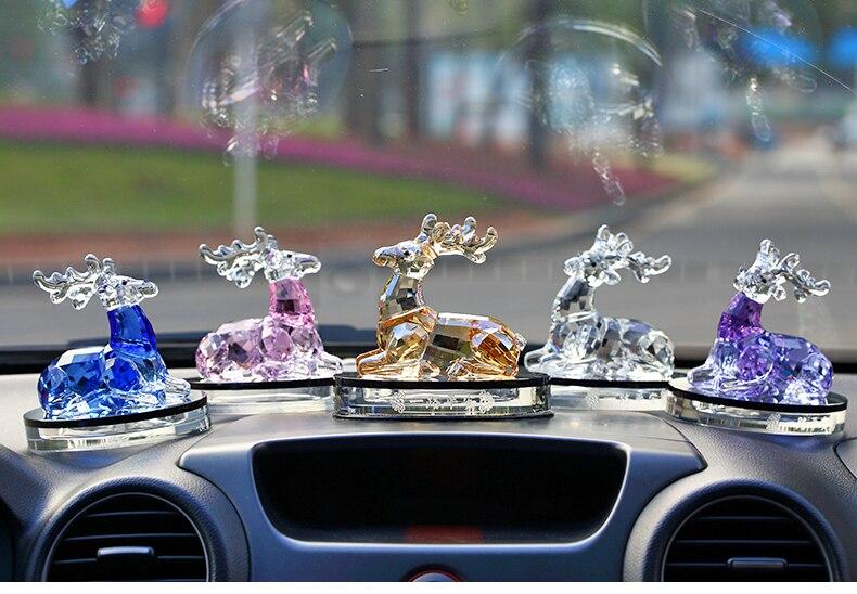 Лучший подарок свадьба и помолвка друг Любовь День рождения Рождество юбилей Ремесленная 3D Цвет Кристалл Олень art Скульптура - 5