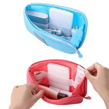 Hot item! Portable Shockproof Nylon Gadget Devices USB Cable Organizer Case Storage Bag