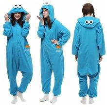 9da59feb03 Anime de dibujos animados azul de sésamo Street Elmo monstruo traje pijamas  adultos mono ropa de dormir de Halloween pijamas reg.