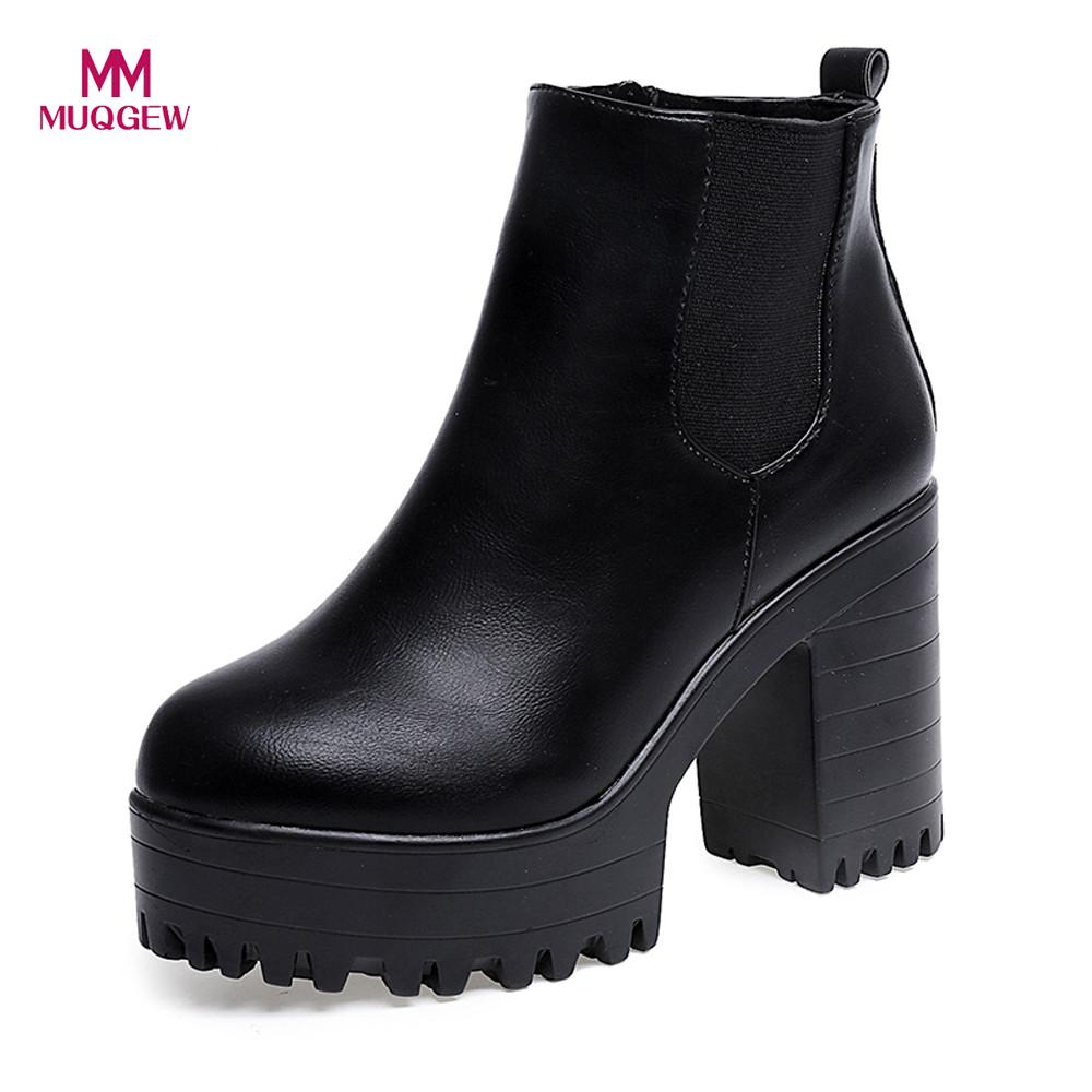 Women 10cm Boots Square Heel Platforms Leather Thigh High Pump Boots Shoes Black Ankle boots For Woman Brand Design Ladies Shoes new women shoes square high heel platform boots woman tassel women boots black yellow beige gray ankle boots