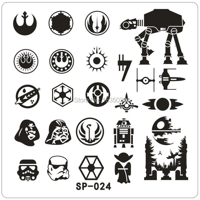 Star Wars Design Nail Art Stamping Image Plates Stainless Steel High