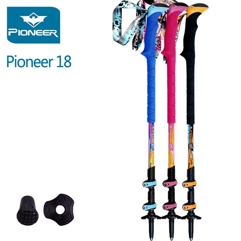 2PCS/LOT Ultralight Hiking Stick Camping Trekking Poles Canes Nordic Walking Sticks Poles Carbon Folding Walking Sticks Trail