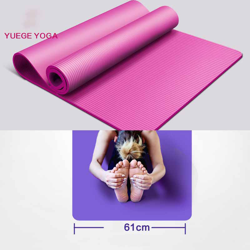 Body Line Thick Hot Yoga Pilates Mats Gymnastics Balance Pads Fitness Mats Non-Slip Dance Pads 10