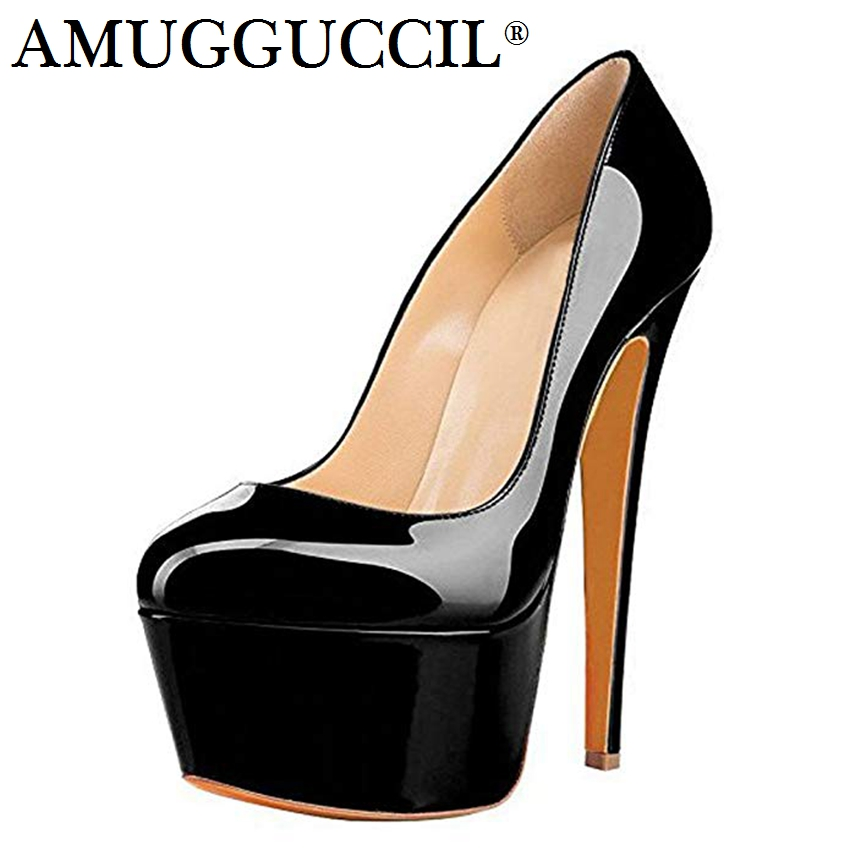 2019 New Plus Big Size 35-52 Black Red Nude Blue Fashion Sexy High Heel Platform Spring  Female Lady Shoes Women Pumps D12252019 New Plus Big Size 35-52 Black Red Nude Blue Fashion Sexy High Heel Platform Spring  Female Lady Shoes Women Pumps D1225