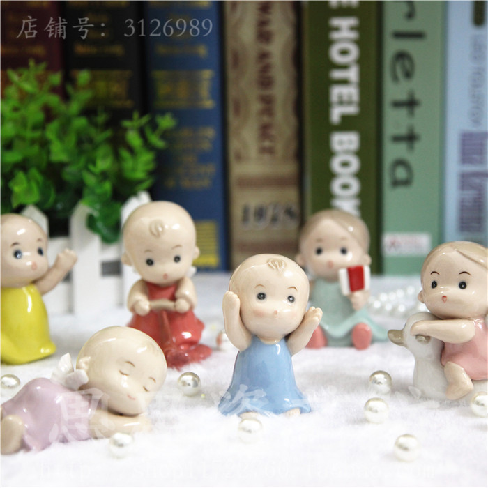 ceramic doll boy girls baby angel figurines home decor crafts Children's room decoration handicraft figurine wedding decoration