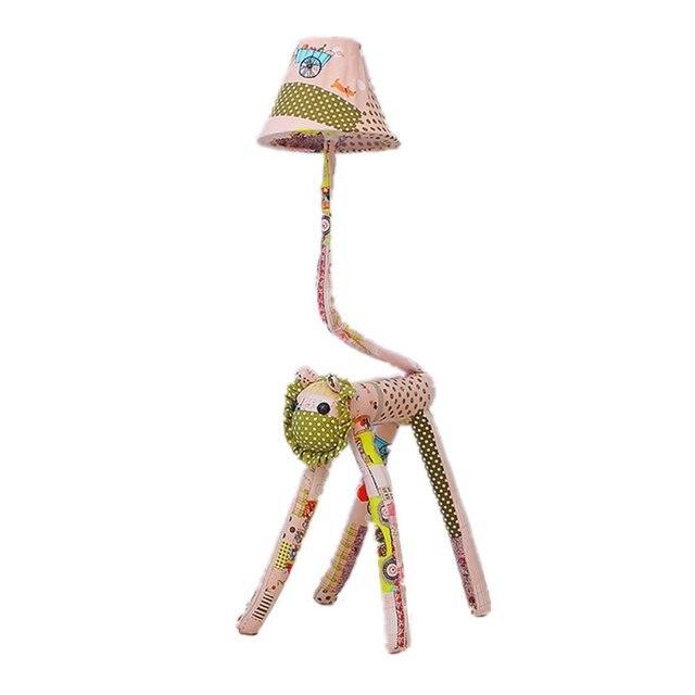De dibujos animados de León chico habitación lámparas lindo creativo dormitorio de niña tejido suelo luz bebé habitación lámpara de piso