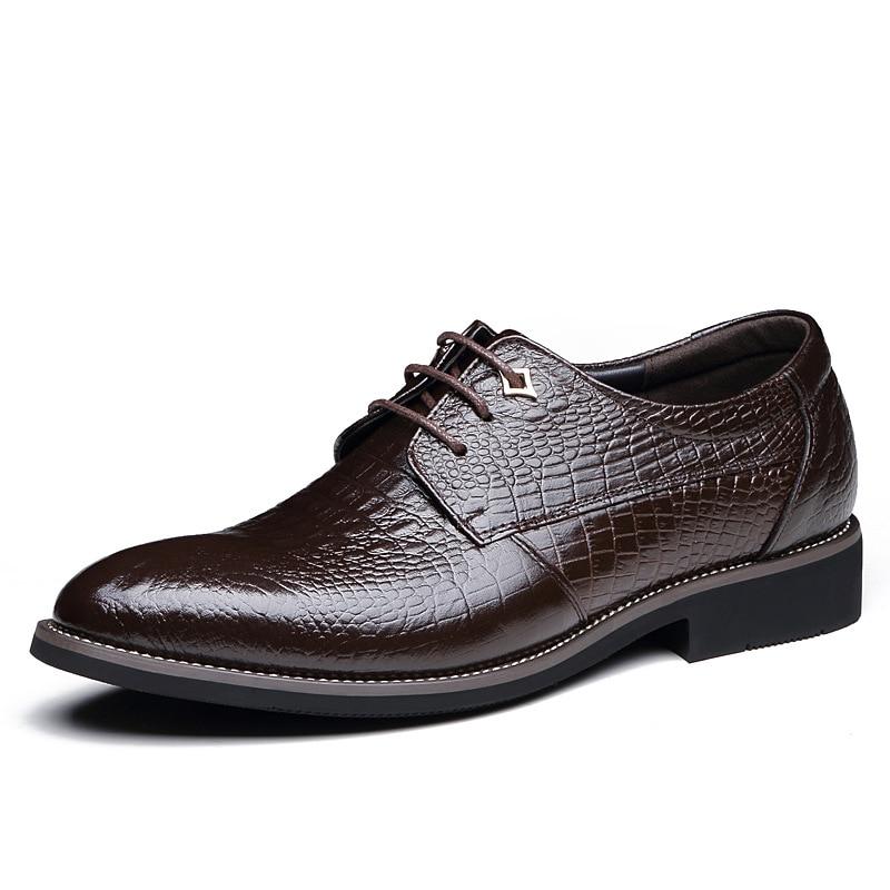 1 Hommes Chaussures Hombre 3 Nouvelle Forma Top Robe Cuir Vestir De 2 Plat Arrivée Pointu Qualité Véritable Bout Zapatos En 5qtt6ATBRS