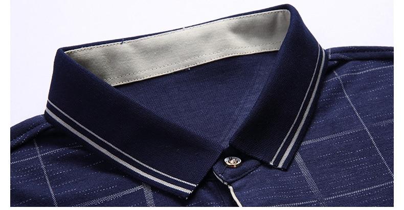 d22ed2004787c 2019 moda marka POLO GÖMLEK erkek ekose spor cep camisa pol ...