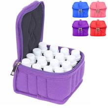 16 Small Slots Portable Essential Oil Storage Bag Box Package High Quality Shockproof Makeup Bag Organizer
