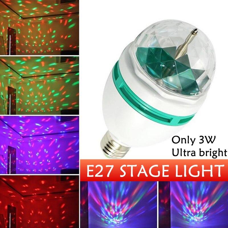E27 LED 3W RGB Stage Lighting Effect LED Auto Rotating Holiday Lamp 85V-265V Disco DJ Party Holiday Dance Christmas Lighting палатка holiday 3 кт3018