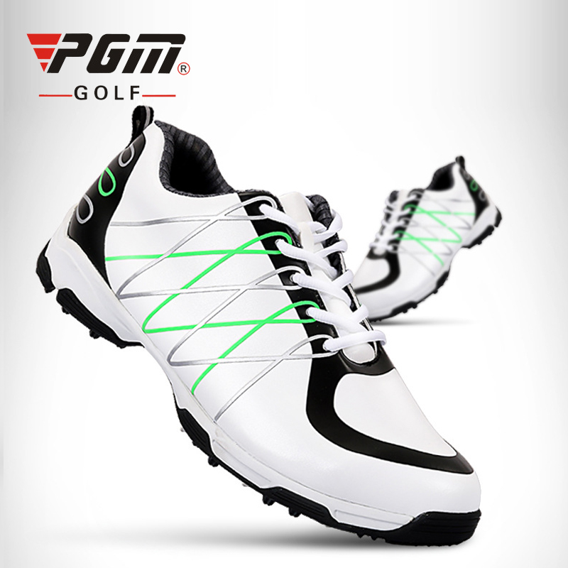 PGM Original Men Golf Shoes Genuine Leather Sports Shoes Waterproof Sneakers Anti Skid Professional Golf Shoes Outdoor Sneakers pgm genuine golf shoes men s double patent golf shoes high performance anti collision exoskeleton anti skid soles