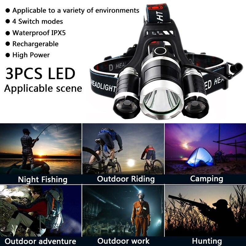 Reflektor LED Z20 Reflektor 9000 Lumenów chip 3x XML T6 super jasny - Przenośne oświetlenie - Zdjęcie 6