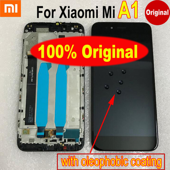 Best Working 100% Original Mi5x LCD Display Touch Screen Digitizer Assembly Sensor with Frame For Xiaomi Mi A1 MiA1 MA1 5X M5X original touch screen digitizer with frame for asus transformer pad tf700 tf700t tcp10d47 v0 2 version 100% working perfectly