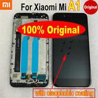 Najlepiej działający 100% oryginalny mi 5x wyświetlacz LCD montaż digitizera ekranu dotykowego czujnik z ramą dla Xiao mi mi A1 mi A1 MA1 5X M5X