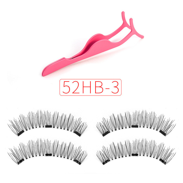 Shozy Magnetic eyelashes with 3 magnets magnetic lashes natural false eyelashes magnet lashes with eyelashes applicator-24P-3 1