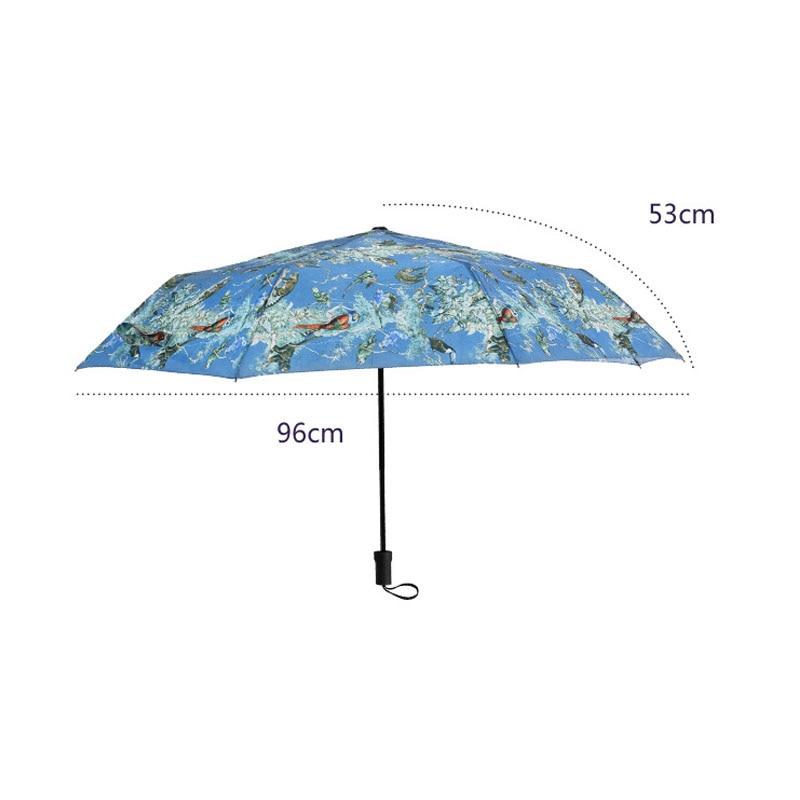 Creative Umbrella Men Rain Woman Windproof Large Paraguas Animal Forest Print Sunny Anti sun 3 Folding Umbrella Outdoor Paraplui in Umbrellas from Home Garden