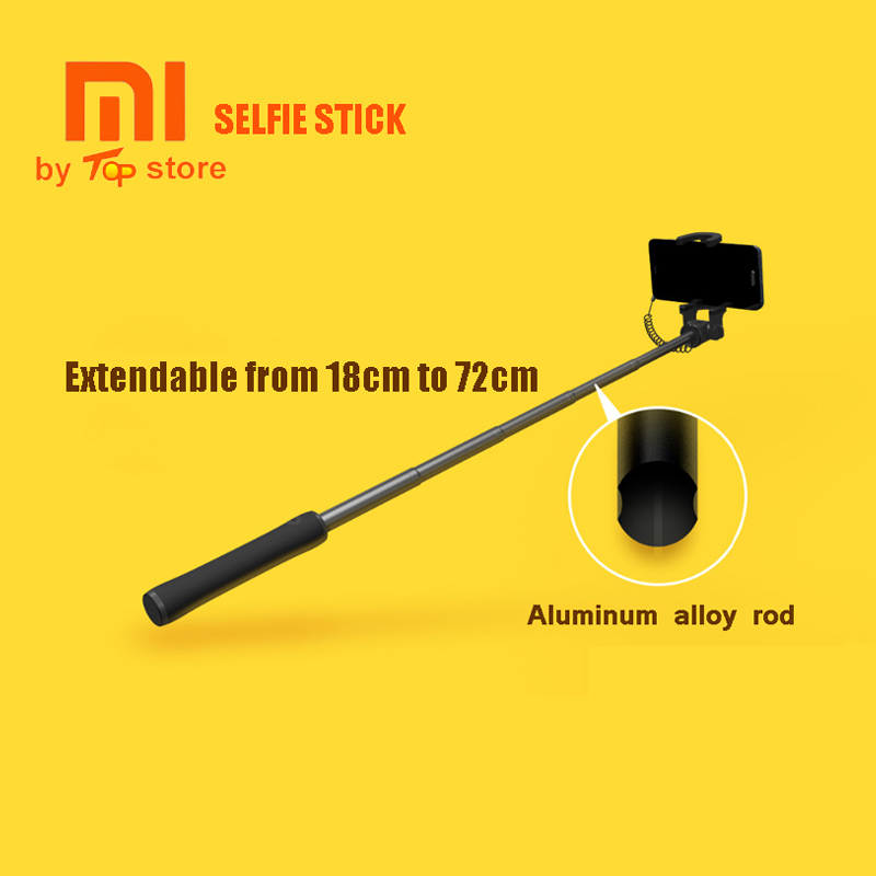 Original Xiao mi Xio mi selfie stick extensible selfiestick handheld con cable monopod para iOS Smartphone Android Pau de selfie