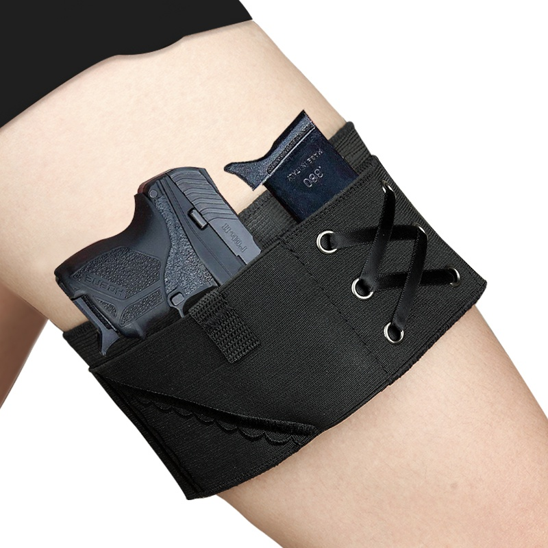 Image 5 - New Black Holster Vaporizer Case Thigh Sexy Woman Tactical Holster Garter Gun For Taurus Leg Sling Elastic Holster For ladies-in Holsters from Sports & Entertainment