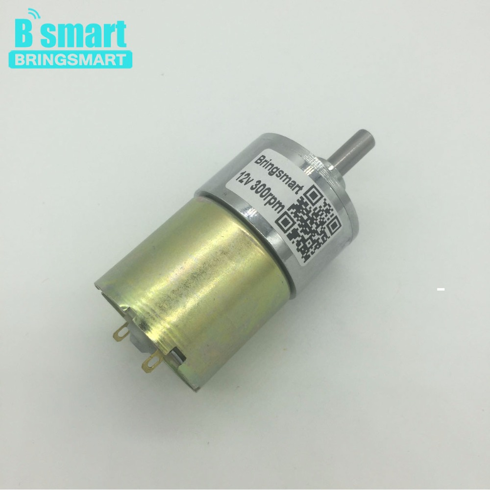 Bringsmart 37GB520 DC 12 Volt Motor 24V Gear Motor Mini DC Reduction Geared Motor High Torque Reversible Speed Regulation