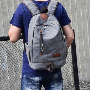 Image 4 - Big Canvas Backpack Man High Quality Large Leisure Multifunction Back Pack Men Bagpack Laptop 2019 New School Bag Backbag Male