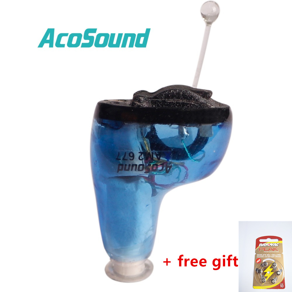 AcoSound 610IF CIC Digital Hearing Aids programmable Invisible 6 Channels Ear Aid Sound Amplifiers Amplifier Care