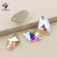 Top AB Crystal 3256 Galactic 9x14 12x19 16x27mm Naaien Steentjes naaien Jurk stenen Plat Kristallen Voor Trouwjurk
