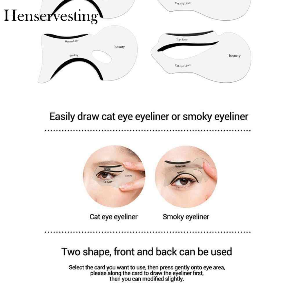 hight resolution of  double stencil 10pcs template eyeliner tools diy models fish template eye wing tail cat eyebrows stencil