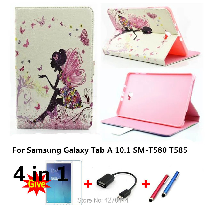 Luxury diamond Colorful PU Leather protective cases stand Cover for Samsung Galaxy Tab A A6 10.1 2016 SM-T580 T580N T585 T585C luxury flip stand case for samsung galaxy tab 3 10 1 p5200 p5210 p5220 tablet 10 1 inch pu leather protective cover for tab3