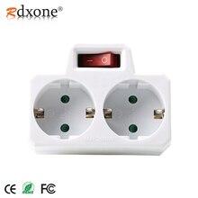 Rdxone 16A ヨーロッパタイプ変換プラグに 1 2 方法 EU 標準電源アダプタソケットとスイッチ