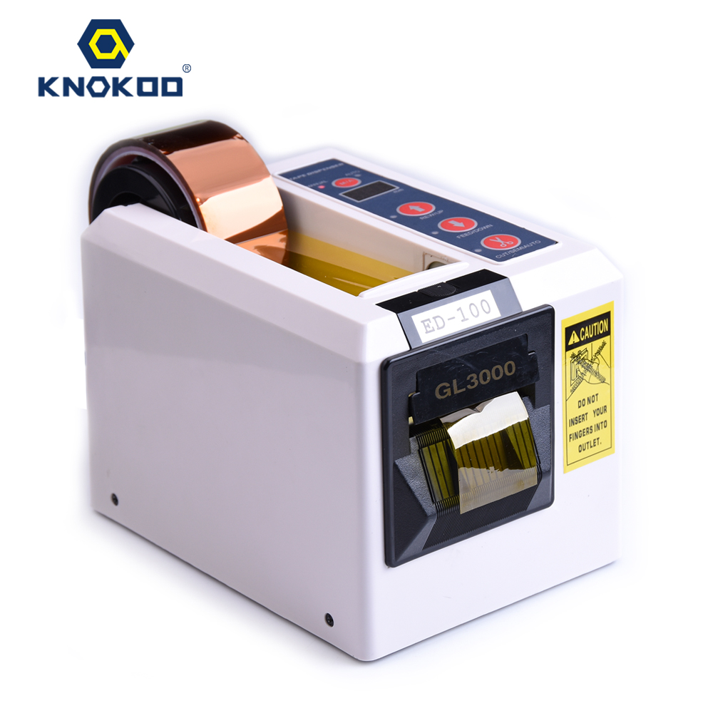 KNOKOO ELectronic Automatic Packing Tape Dispenser ED-100/ED100 Tape Cutter Machine automatic tape dispensers electric tape dispensers automatic tape cutter machines automatic tape dispensing machines