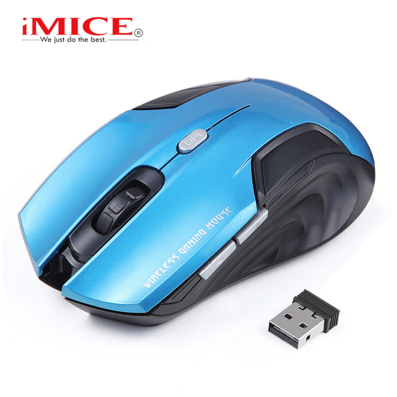 iMice Wireless Mouse Ultra Thin USB PC Mice 2.4Ghz Optical Ergonomic Mouse 6 Button Computer Mice Wireless For Laptop Office Use imice wireless mouse 2 4g usb optical mouse original 3 buttons 1600dpi computer mice ergonomic design for laptop desktop pc