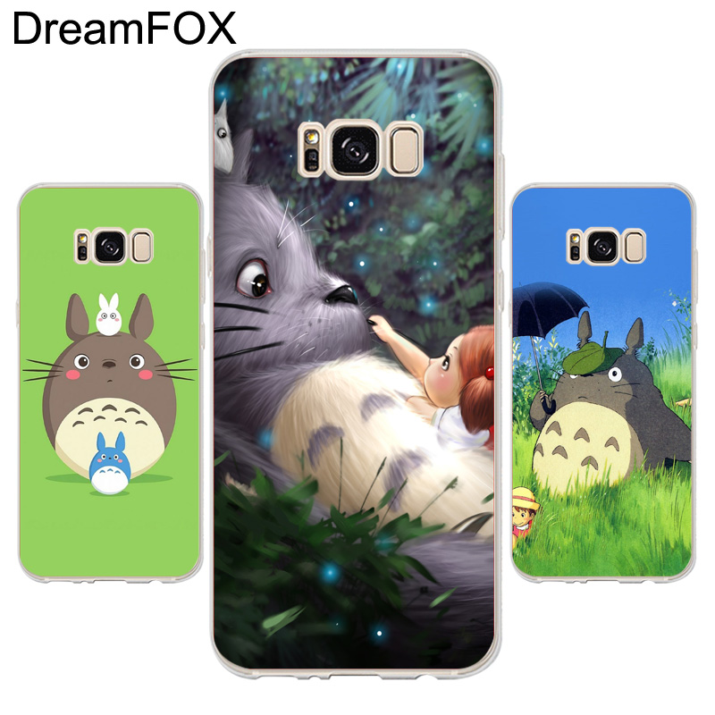 DREAMFOX K242 Totoro Soft TPU Silicone Case Cover For Samsung Galaxy Note S 3 4 5 6 7 8  ...