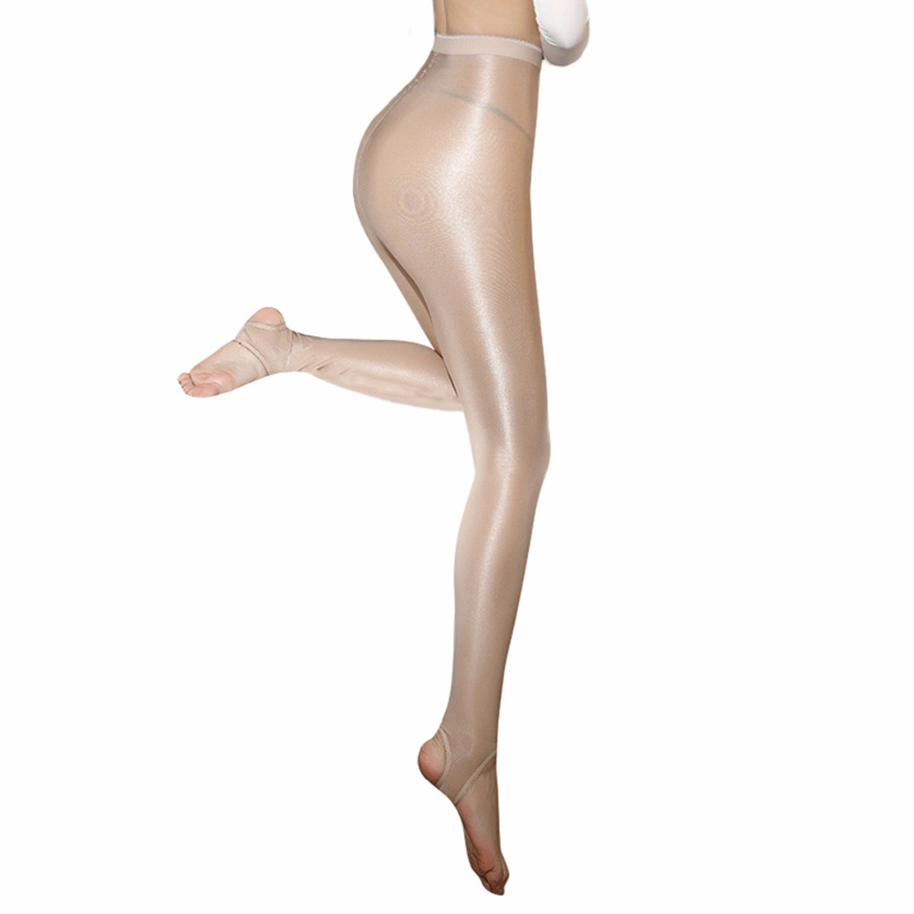 100D Women Oil Shiny Pantyhose Sexy Strumpfhose Glitter Collants Ballet Dance Tights Collant Femme Pantimedias