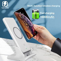 10000mAh Qi Wireless Power Bank Fast Charging For Samsung S8 S9 Huawei Xiaomi iPhone Portable Battery External With Stand Dock