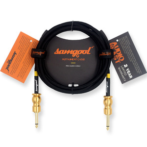 Samgool+ EG series guitar cable professional grade noise reduction line 6.35 effect wood electric box piano audio cable