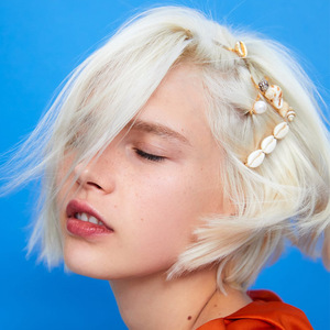 Image 4 - 1 ensemble été plage cheveux bijoux mode Imitiation perle coquille étoile de mer épingles à cheveux pinces à cheveux pour femmes accessoires de cheveux