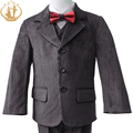 Nimble Boys Formal Suit Winter Corduroy Plaid Brown Kids Cloth New Christmas Costumes For 2-13Y Boys