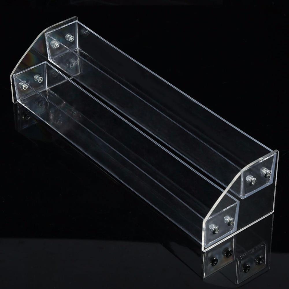 FSHALL Showing Shelf New Acrylic 7-2 Tiers Organizer Lipstick Jewelry Display Holder Nail Polish Rack 6 Size
