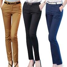 Женские узкие брюки осенние женские офисные брюки с высокой талией повседневные женские узкие штаны бодикон эластичные брюки Длинный пант офис леди брюки формальный брюк офис дамы офисная работа длинные брюки