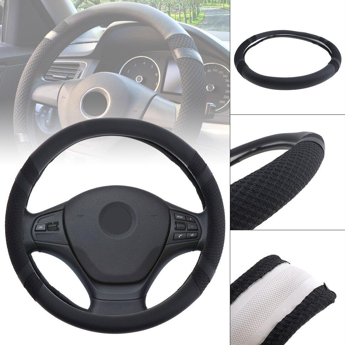 38 CM high grade Leather Car Steering Wheel Cover Soft Anti-Slip Steering Cover steering-wheel cubre funda volante coprivolante