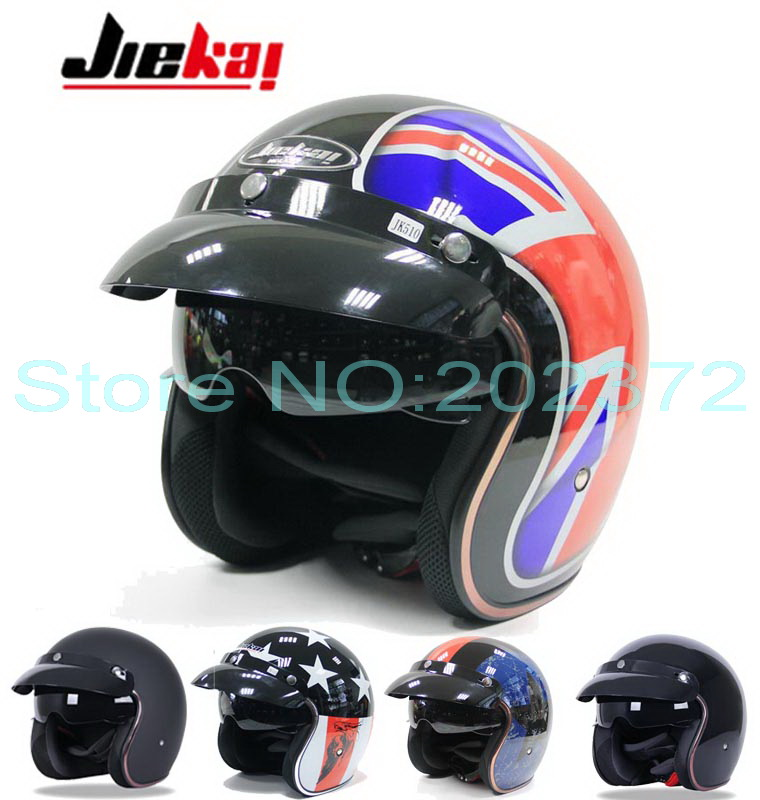 2016 New JIEKAI vintage Prince motorcycle helmet JK510 half face motorbike helmets scooter bike for Harley style Size L XL XXL