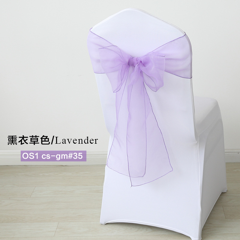 25pcs/set Organza Chair Sashes 7x108 inch Event Party Wedding Chairs Knot Decoration Chair Bows Banquet Supplies Free Shipping