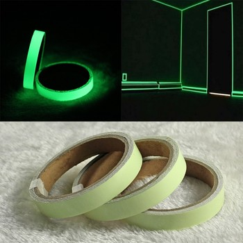 15mm/20mm 1/3M/roll Luminous Tape Self Adhesive Glow in the Dark Safety Stage Car Bike Stairs Door Home Decorations Warning Tape